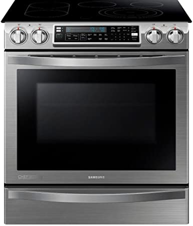 SAMSUNG NE58H9970WS Slide In Induction Range, 30 Inch, Stainless Steel