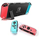 Dockable Clear Case for Nintendo Switch, VANJUNN 3 in 1 Protective Case Cover for Nintendo Switch and Joy-Con Controller with
