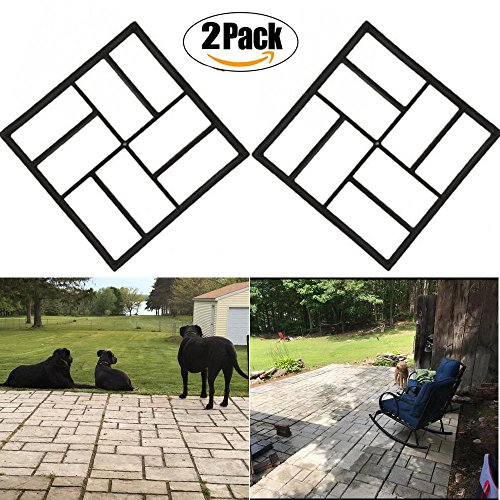 Cheap  2 Pack Cement Molds Pavement mold, Ponydash DIY Personalized Manual Patio Stone..