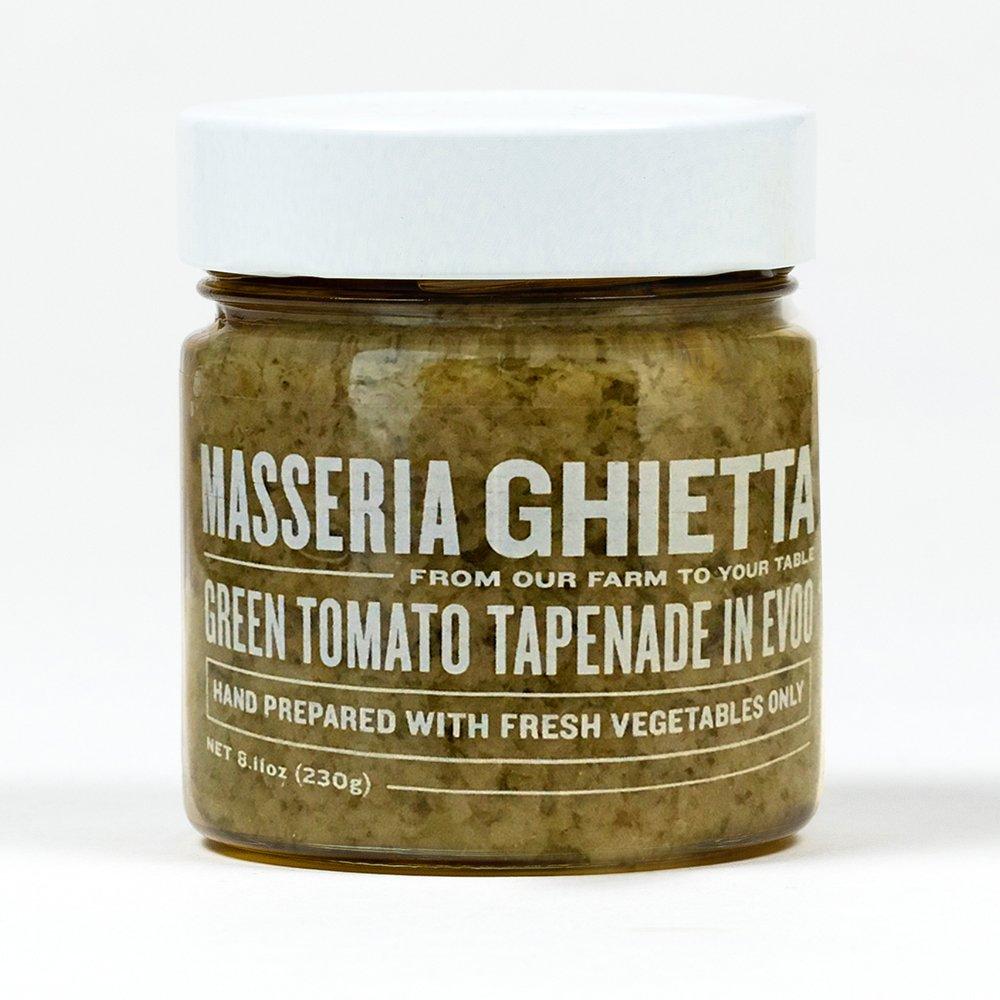 Masseria Ghietta Green Tomato Tapenade, 8.11 Ounce