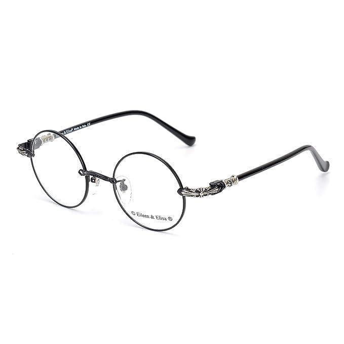 Amazon.com: Eileen & Elisa - Gafas redondas de metal para ...