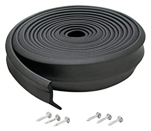 M-D Building Products 3723 M-D 0 Bottom Garage Door Sealer, 2 In W X 9 Ft L X 1 In H Black