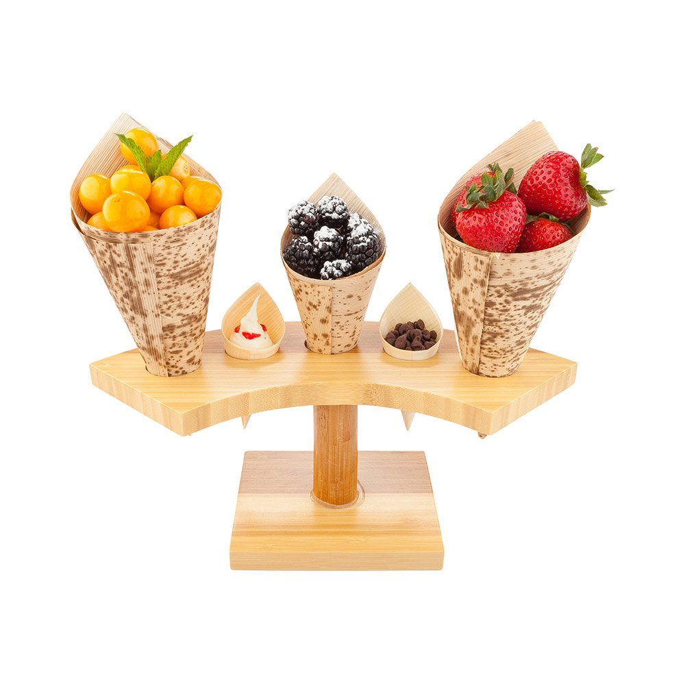 Restaurantware Bamboo Cone Stand 36 Slots 1 Per Box RWB0230