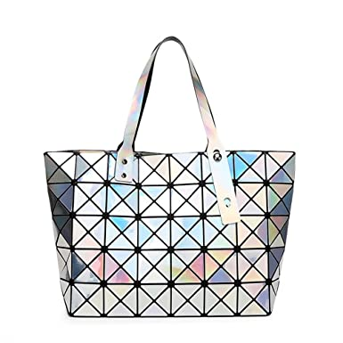 b7677220d6 New Brand Messenger Bag Hologram Diamond Women Fashion BAOBAO Bag Geometry  Sequins Mirror Plain Folding Handbag