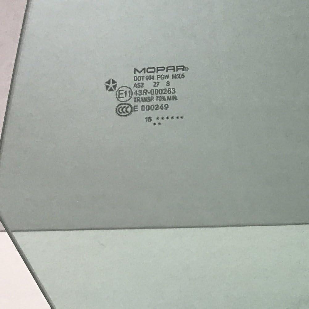 NAGD Compatible with 2009-2019 Dodge Challenger 2 Door Coupe Passenger Right Side Door Window Glass DD11568GTN