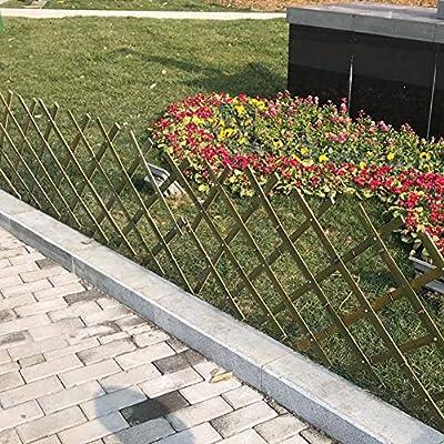 WXQ - Valla de jardín con Borde de Flor, barandilla para Plantas, decoración al Aire Libre, bambú Natural Impermeable, 4 tamaños, bambú, 60X180CM: Amazon.es: Hogar
