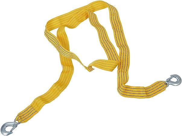 Cavo Traino Fuoristrada Cable de Remolque de Recuperaci/ón en Carretera con Ganchos de Tira Reflectante Ganchos de Remolque 3 M Adecuado para la Mayor/ía de Los Autom/óviles de Menos de 8 Toneladas