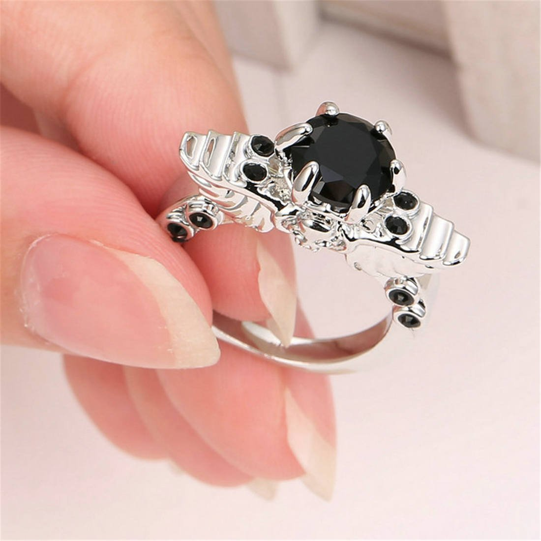 Amazon.com: TianBo Womens Wedding Engagement Rings CZ Crystal ...