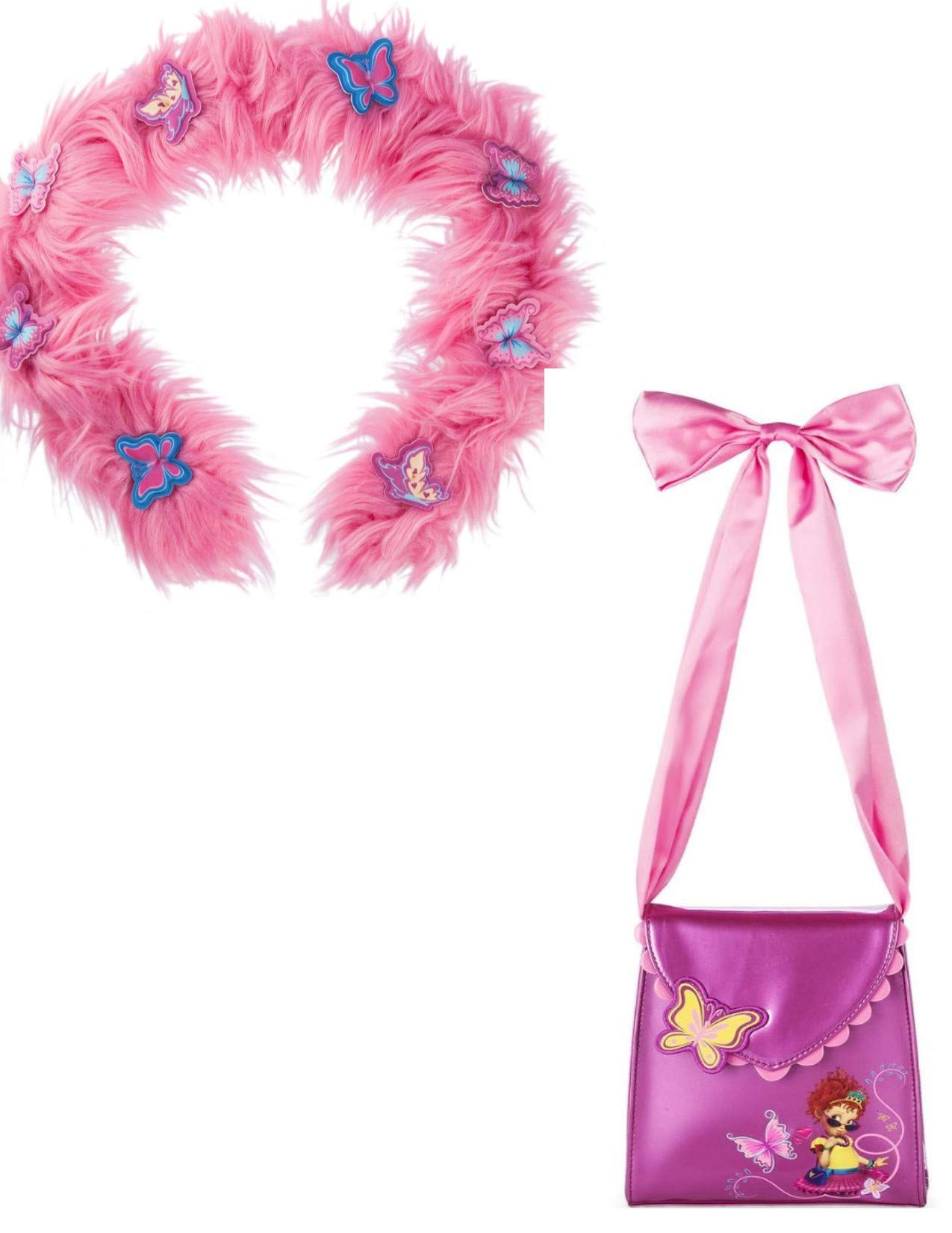 Fancy Nancy Boa and Purse Faux Fur for Girls Disney Dress Up Costume Play