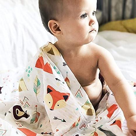 Paños De Muselina Molleton Algodón Suave Pañales De Gasa De Bambú Eructo Para Su Bebé Abrazo Paños De Gasa De Tela-29: Amazon.es: Bebé