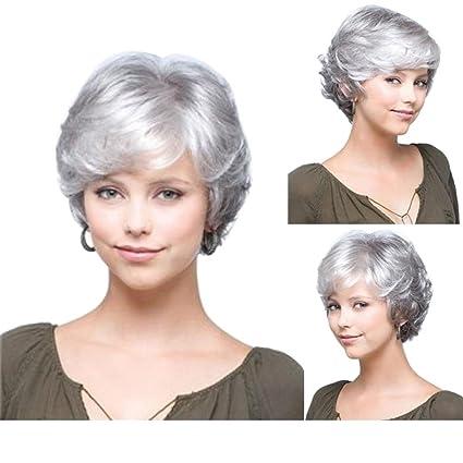 Tonake Perruque pour femme - Cheveux blancs,