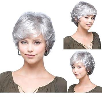 Perruque femme cheveux blanc
