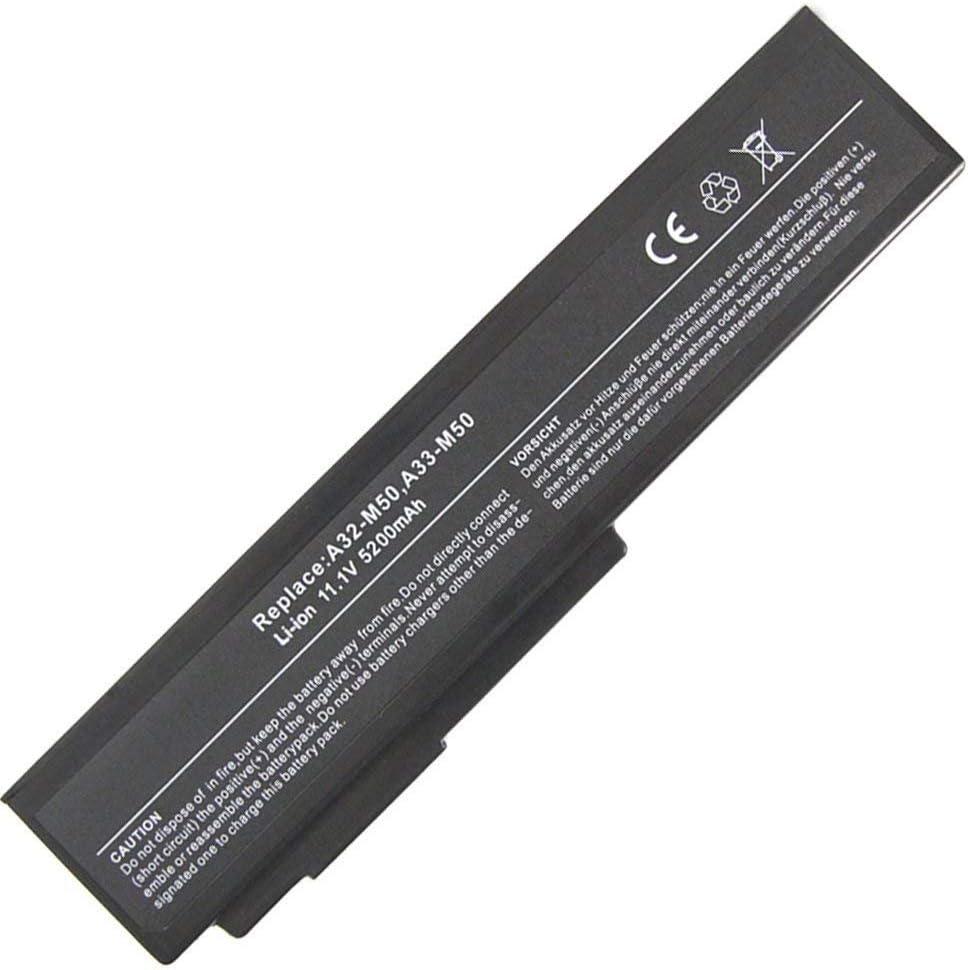 7XINbox 5200mAh A32-N61 A32-M50 A33-M50 Replacement Laptop Battery for Asus M50 M60 N53 N53J N53JQ N53S N53SN N61J N61JQ N61JV N53SV G50 G60 G51J