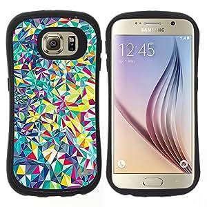 "Pulsar iFace Series Tpu silicona Carcasa Funda Case para Samsung Galaxy S6 , Formas detalladas Bellas Shattered"""