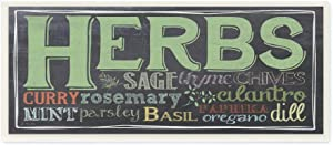 Stupell Home Décor Herbs Chalkboard Look Typography Kitchen Wall Plaque, 7 x 0.5 x 17, Proudly Made in USA