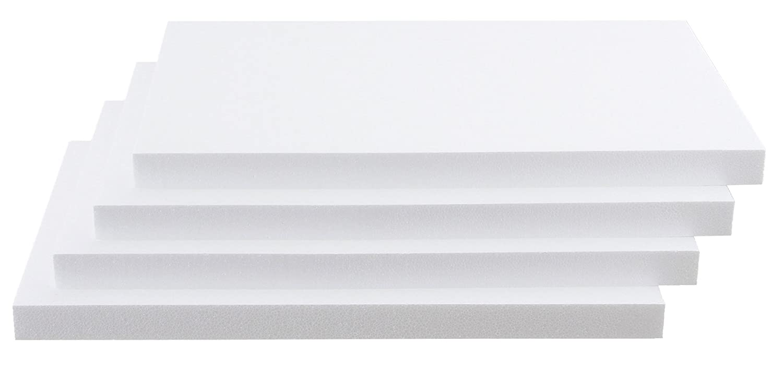 295mm x 200mm x 2mm in verschiedenen Gr/ö/ßen und Mengen hier 3 St/ück Polystyrol Platten PS Platten Kunststoff Hart-Platten f/ür Modellbau//Basteln weiss