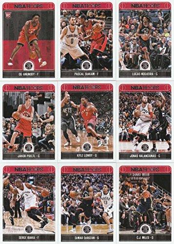 be79a168b7a71 2017-18 Panini NBA Hoops Toronto Raptors Team Set of 9 Cards: C.J.  Miles(#156), DeMar DeRozan(#175), Kyle Lowry(#176), Jonas  Valanciunas(#177), Serge ...