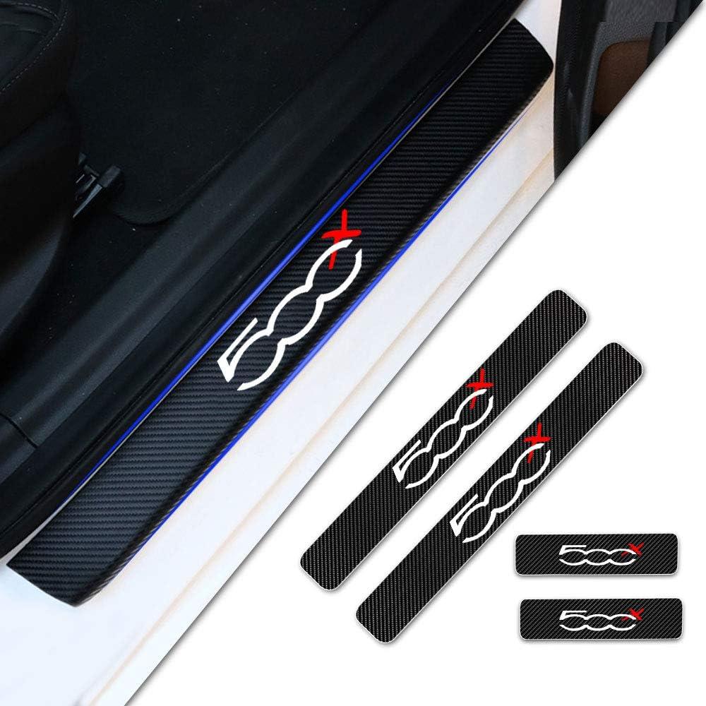 Adesivi Auto Prevenzione dei Graffi 4 PCS NBVNBV Battitacco Auto Pedali Fibra di Carbonio Sticker per B-M-W E39