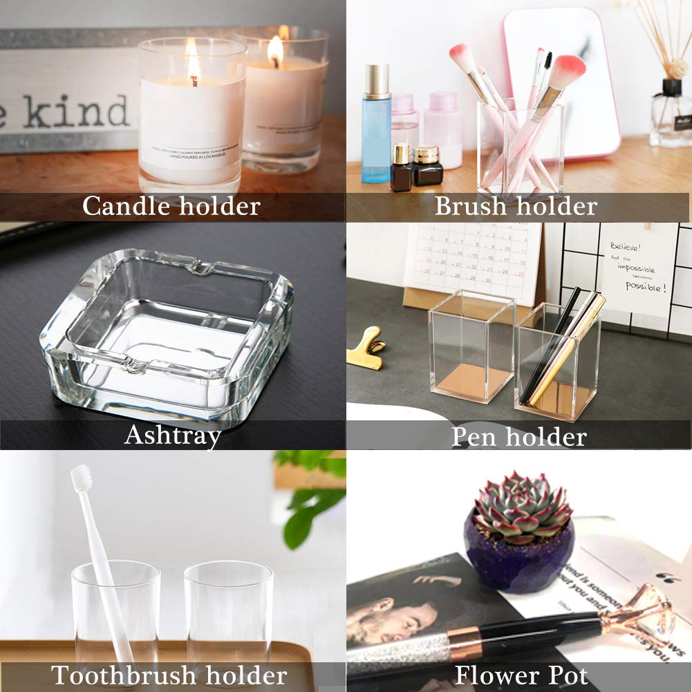 Includes Mixing Cup /& Wood Sticks YZNlife Silicone molds for Resin,Large Art Epoxy Molds for Casting Coaster//Ashtray//Flower Pot//Pen Candle Soap Jewelry Holder