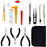 Wisehands Professional Jewelry Making Kit Jewelry Pliers for Jewelry Crafting and Jewelry Repair with Zipper Storage Case