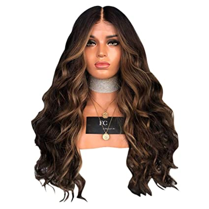 Amazon Com Dacyflower New Mid Length Long Curly Hair Ladies