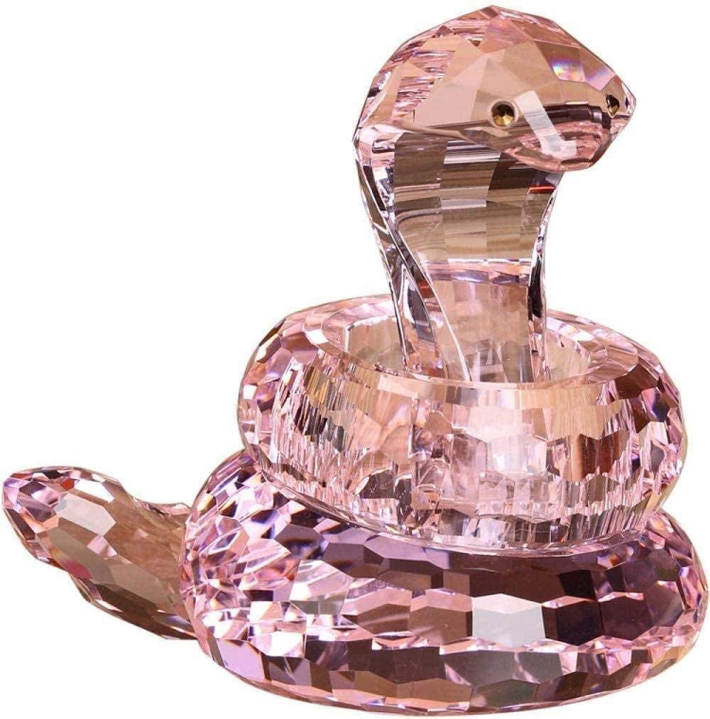 MFHDK Statues,Glass Statue Crystal Figurines Ornaments Car Decoration Crystal Snake Creative Car Car Decoration Home Supplies Jewelry Decoration Sculptue Sculptures