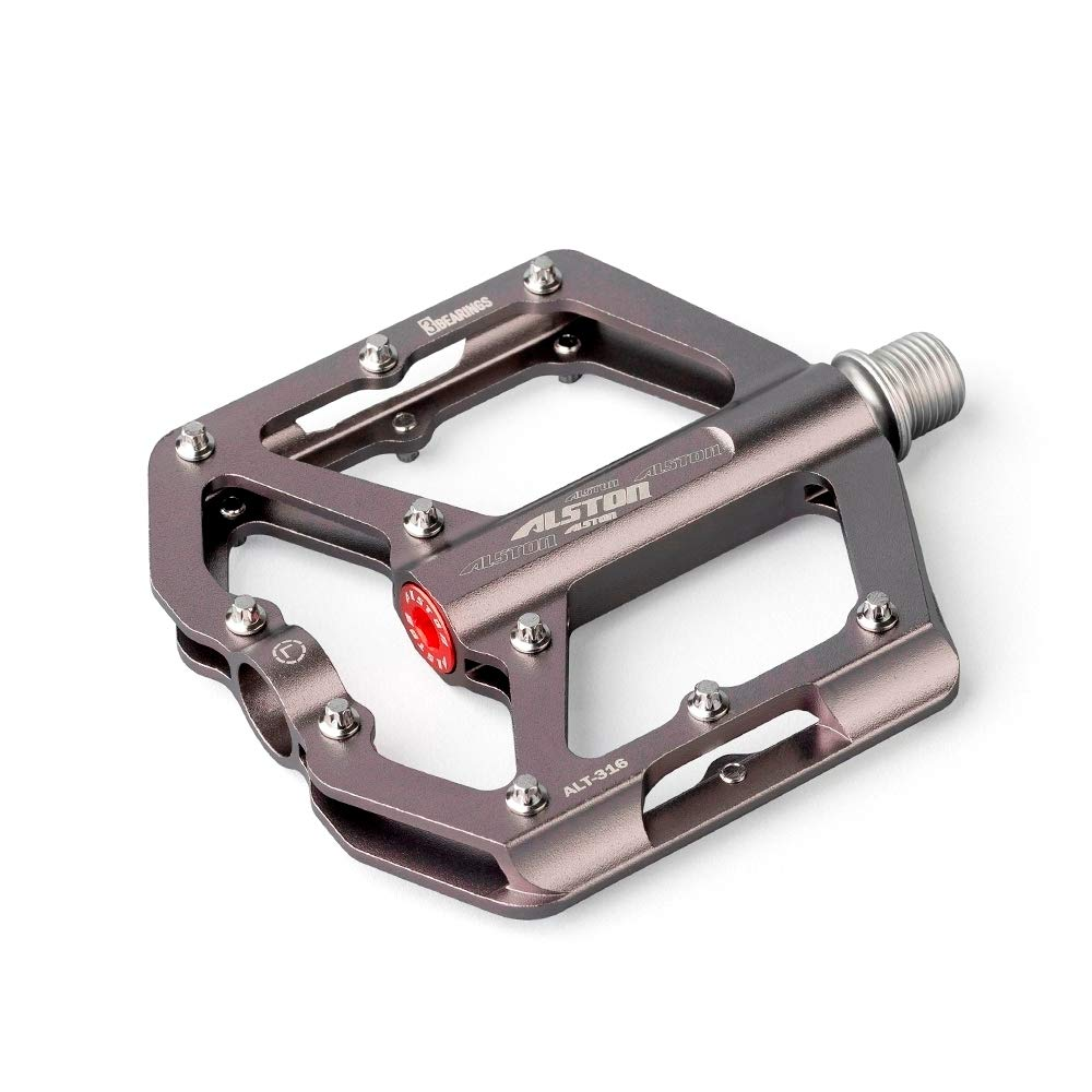 Alston Non-Slip Mountain Bike Pedals,Ultra Strong Colorful Cr-Mo CNC Machined/9//16 3 Sealed Bearings for Road BMX MTB Fixie Bikes