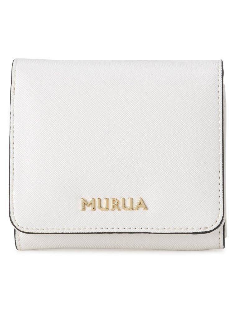 (ムルーア) MURUA 二つ折り財布 MR-W562 配色 B07BK5868K ホワイト ホワイト