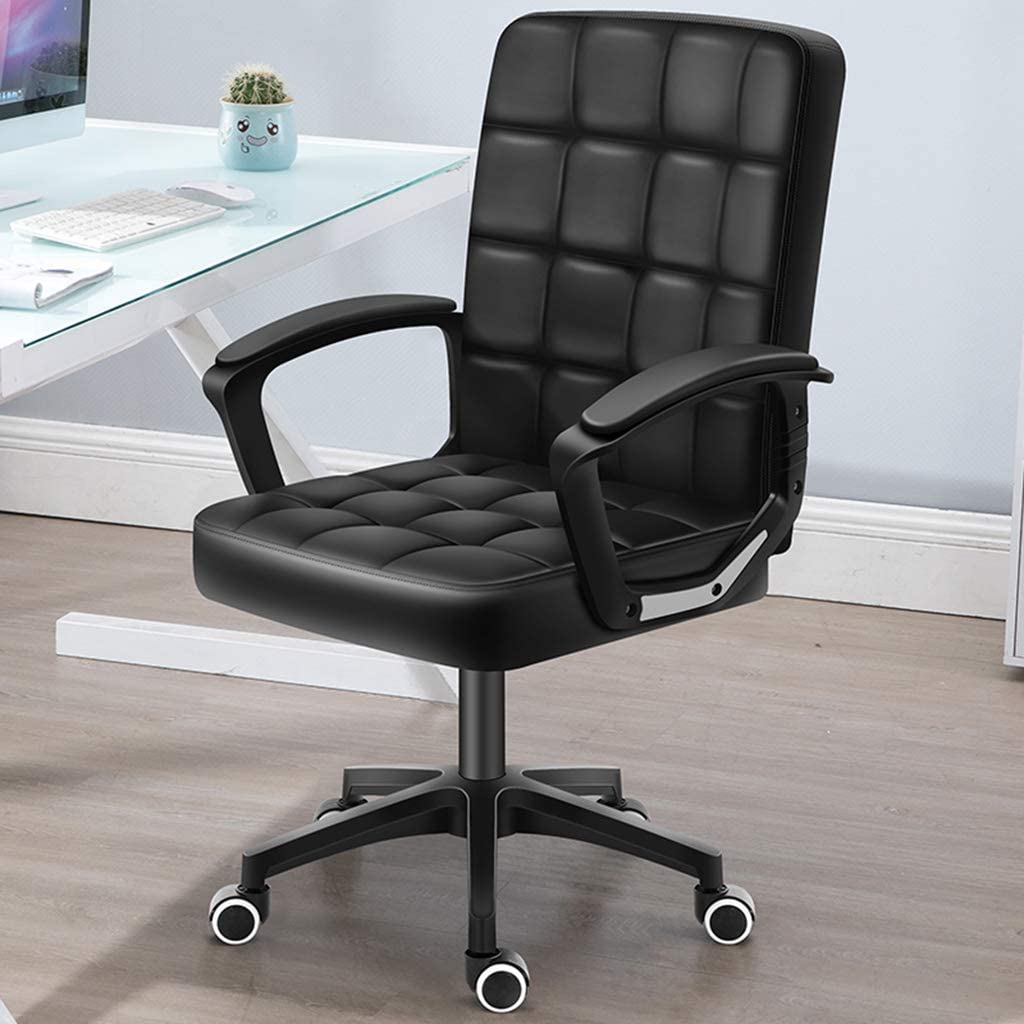 Executive Office Desk Chair, Thick Padding for Comfort Ergonomic Design for Lumbar Support Office Chair with Metal Frame,A