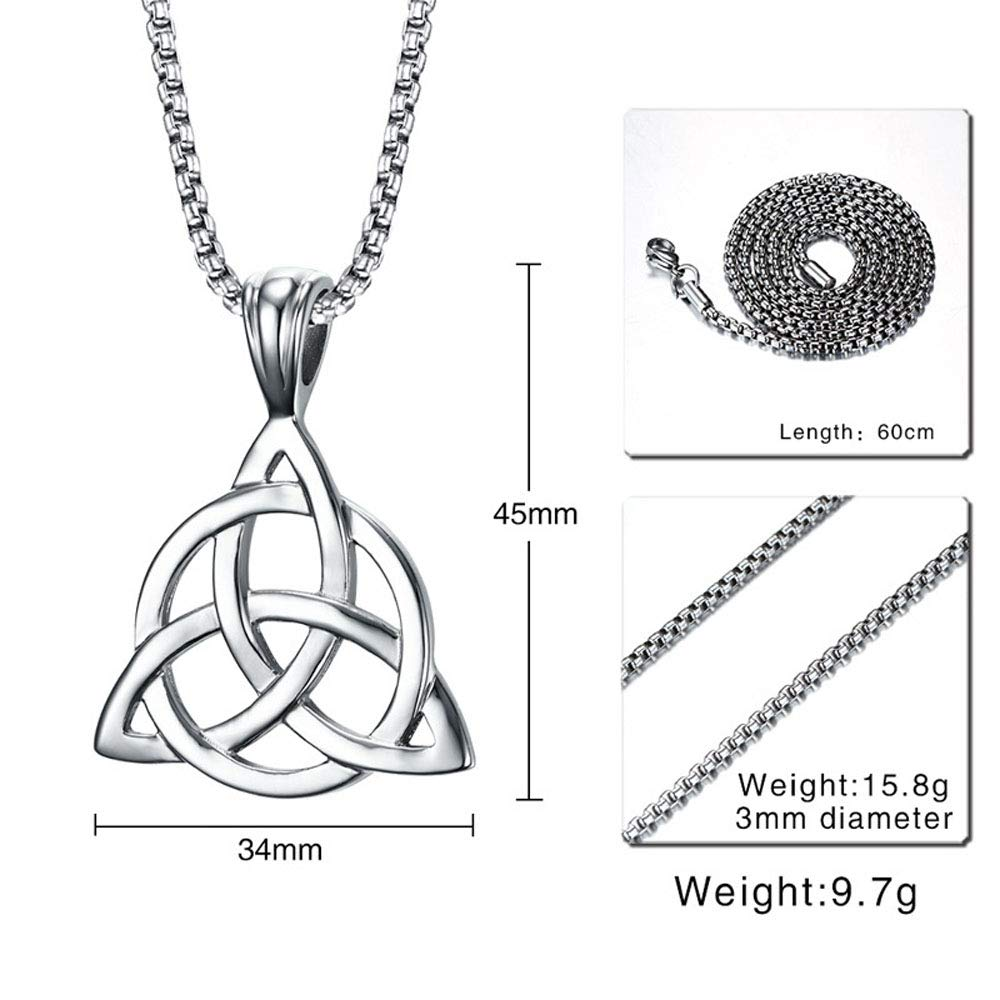 Triple Goddess Pendant Wiccan Jewelry, Witchcraft Trinity Knot Triquetra Knot Pendant Triquetra Necklace Celtic Necklace