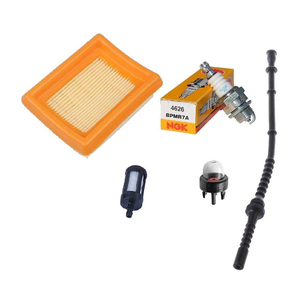 PETSOLA Filtre /à air Carburant Ligne Primer Ampoule pour Stihl FS 120/200/250/300/350/400/450