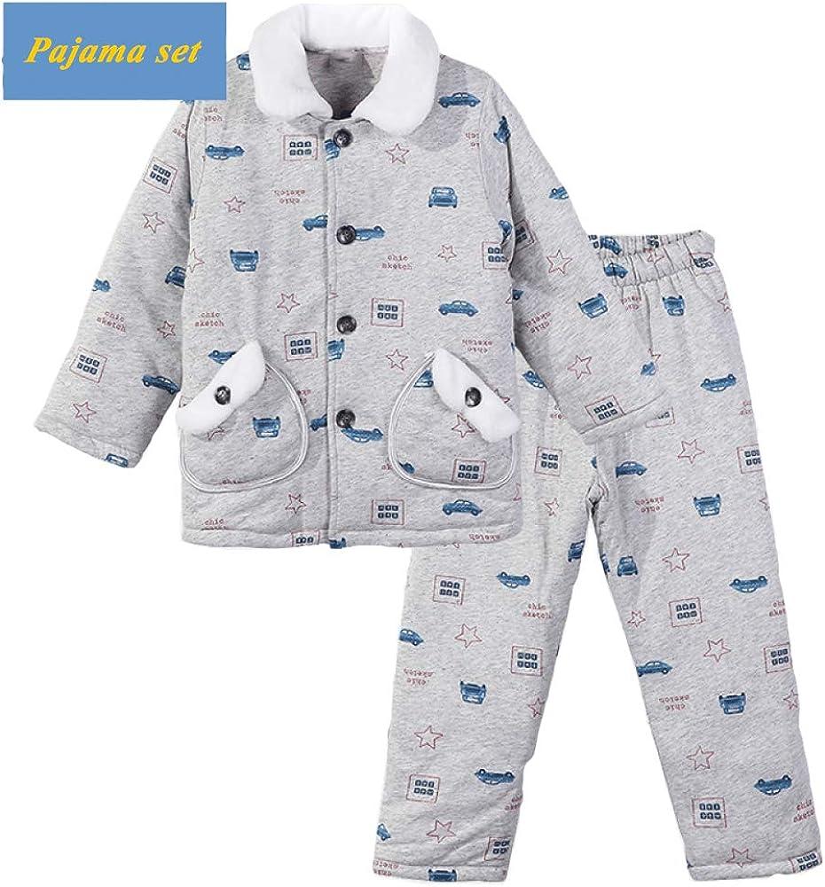 Pijamas para Niños, Otoño E Invierno Niños Grandes Acolchado ...