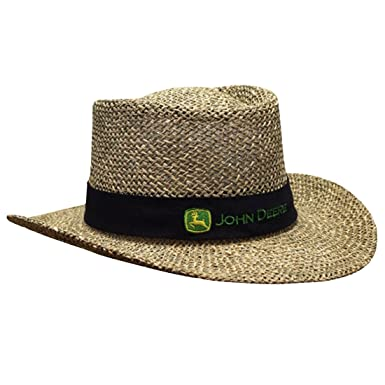 John Deere Brand Black Straw Hat With Neck Strap at Amazon Men s ... 028fe976d5b