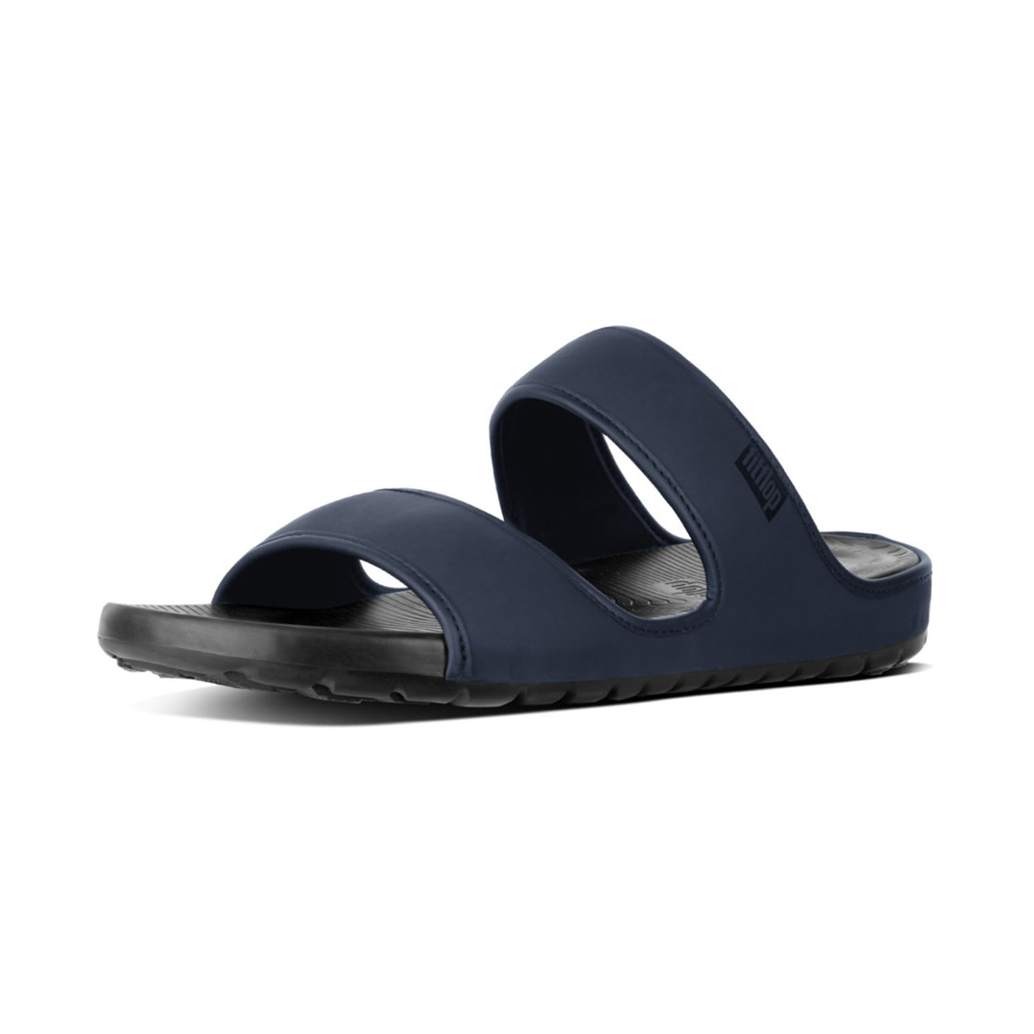 TALLA 44 EU. Fit Flop Lido TM Double Slide Sandals In Neoprene, Chanclas para Hombre