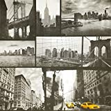 New York City Black and White Monochrome Yellow Taxi Photograph Wallpaper