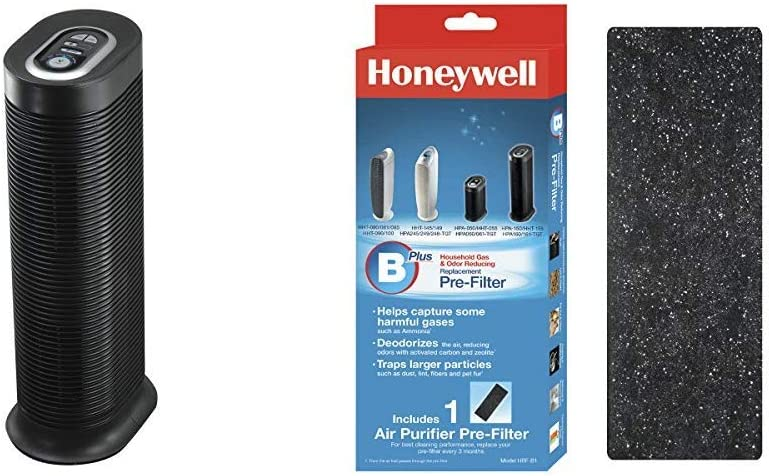 HONEYWELL HPA160 HEPA Tower Allergen Remover, 170 Sq Ft Odor-Reducing Air Purifier Replacement Pre-Filter, HRF-B1/Filter (B)