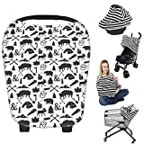 Nursing Breastfeeding Cover Scarf - Baby Car Seat Canopy, Shopping Cart, Stroller, Carseat Covers Best Baby Shower Gift for Girls and Boys - Multi-Use Infinity Stretchy Shawl (Color-7)