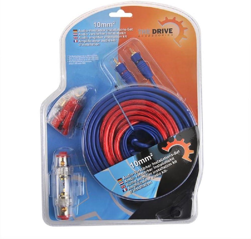 The Drive Kabelkit Awg 8 10mm Audio Verstärker Installations Set Auto