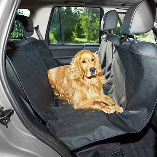 Randemfy Pet Seat Cover,Dog Seat Covers for car&SUV-Black,Waterproof & Hammock Convertible