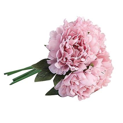 Womail Suspensión Para Flores Artificiales Artificial Peonía