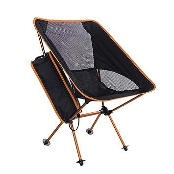 ERAY Silla Plegable Camping Ultraligera y Portátil con Bolsa de Transporte