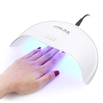 Amazon.com: SKM Nail Dryer - 24w UV LED Light Professional Curing Lamp with Smart Senor, 5 Timer Settings, Works With All Fingernail and Toenail Gel Polish: ...