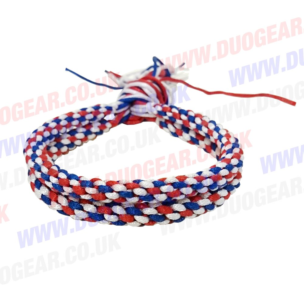 RED, WHITE & BLUE DUO MUAY THAI KICKBOXING RING FIGHTERS TRADITIONAL PRAJIOUD PRAJEAT ARM BANDS DUO GEAR