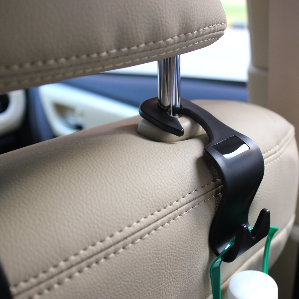 Car SUV Back Seat Headrest Hanger Storage Hooks LILER Car Headrest Hook Purse Handbag Grocery Bag Kid/'s toy Holder 4 Pack Car SUV Back Seat Headrest Hanger Storage Hooks Purse Handbag Grocery Bag Kids toy Holder 4 Pack