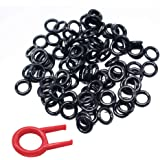200Pcs Rubber Keyboards O-Ring Switch Dampeners Keycap for Cherry MX Key Kit Dampers 40A-L-0.2mm Reduction with 1PCS…