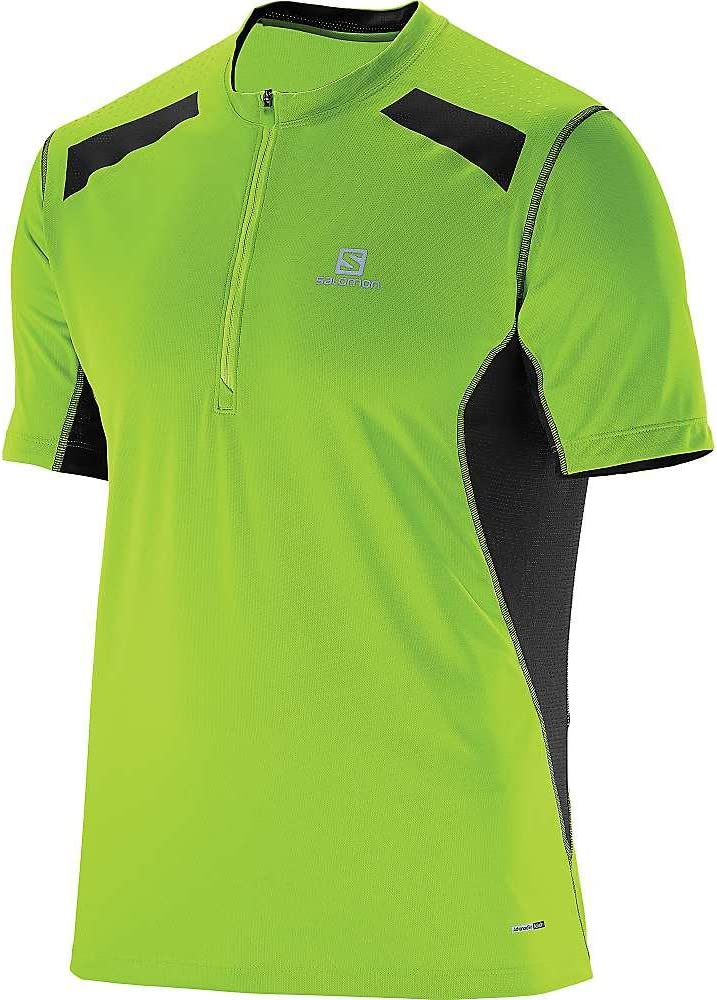 Salomon Fast Wing HZ - Camiseta de manga corta, color verde y negro, large: Amazon.es: Deportes y aire libre