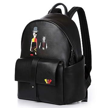 Circlefly Mochila de viaje al aire libre de bolsa casual de cuero europeas y americanas moda bolso de hombro de los hombres: Amazon.es: Hogar