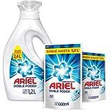 Ariel Regular Detergente Líquido Concentrado 1.2L + 2 Refills De 600ml, Total 2.4L