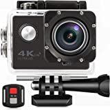 "Better Choice Action Kamera 4K Ultra HD Sport Camera Wifi 30m Wasserdichte Unterwasserkamera mit 170 ° Weitwinkel 16MP Outdoor Video Recorder 2"" LCD und Zubehör Kits für Tauchen Skifahren Surfen."
