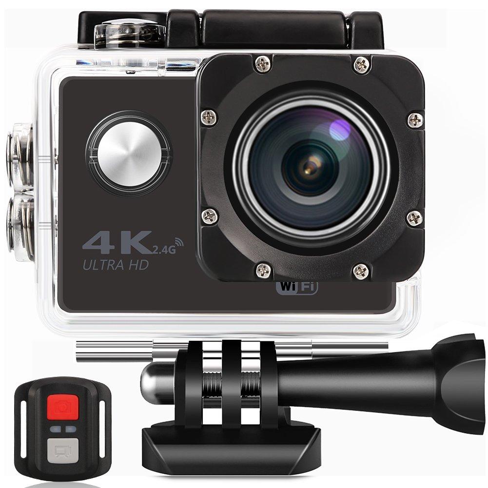 Better Choice Action Kamera 4K Ultra HD Sport Camera Wifi 30m Wasserdichte Unterwasserkamera mit 170 ° Weitwinkel 16MP Outdoor Video Recorder 2 LCD und Zubehör Kits für Tauchen Skifahren Surfen.